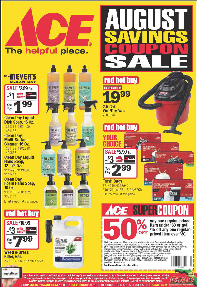 August Coupon Sale